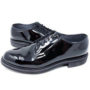 Men's Bates Black High Gloss Dress Shoes Vibram